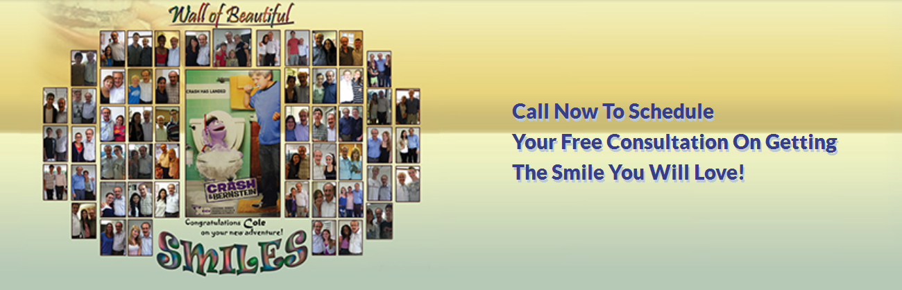 "A ""Wall"" of beautiful smiles after successful orthodontic treatment"