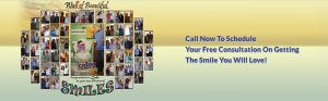 """A """"Wall"""" of beautiful smiles after successful orthodontic treatment"""
