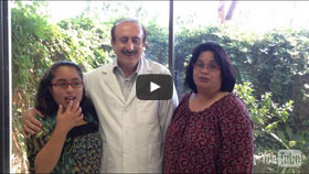 Dr. Nader Dayani with two happy customers after the treatment